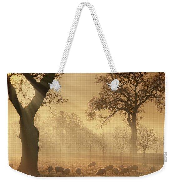 Winter's Gold Weekender Tote Bag