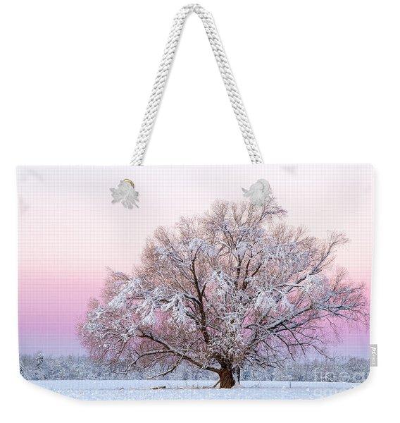 Winter's Majesty Morning Weekender Tote Bag