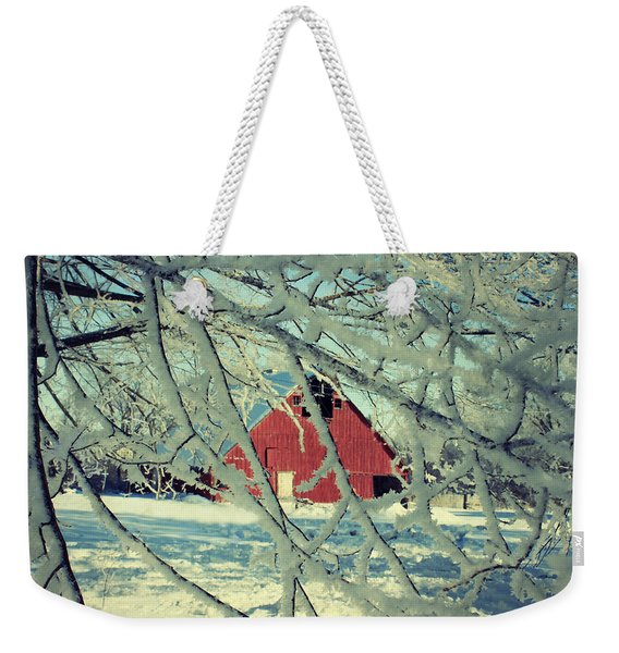 Our Frosty Barn Weekender Tote Bag