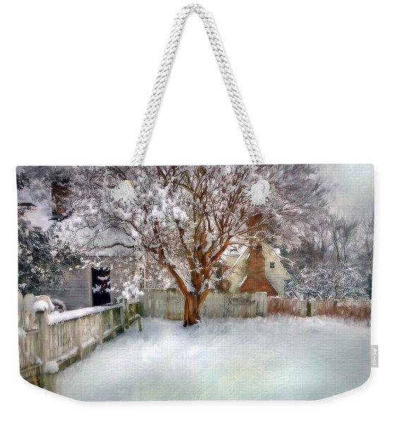 Wintry Garden Weekender Tote Bag