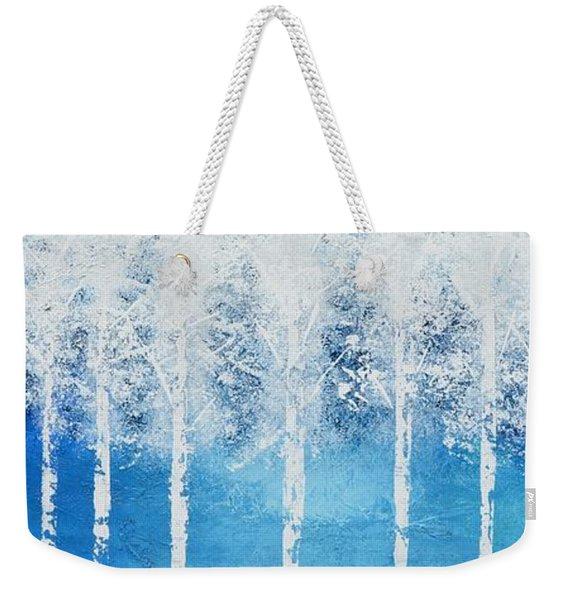 Wintry Mix Weekender Tote Bag