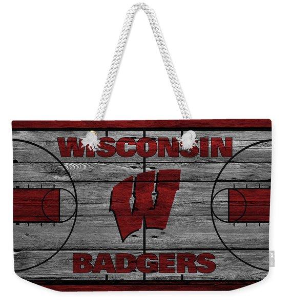 Wisconsin Badger Weekender Tote Bag