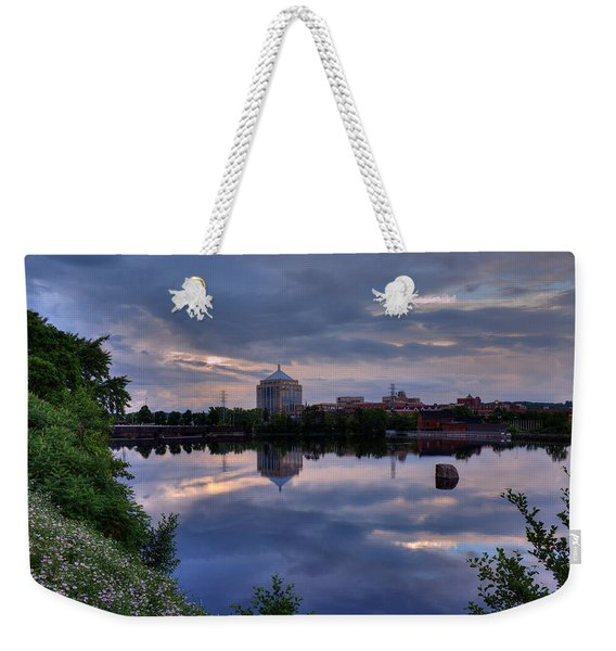Wisconsin River Reflection Weekender Tote Bag