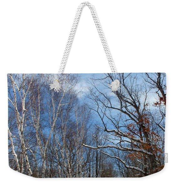 Wisconsin Winter Road Weekender Tote Bag