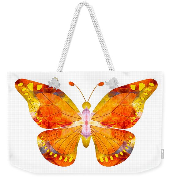 Wisdom And Flight Abstract Butterfly Art By Omaste Witkowski Weekender Tote Bag