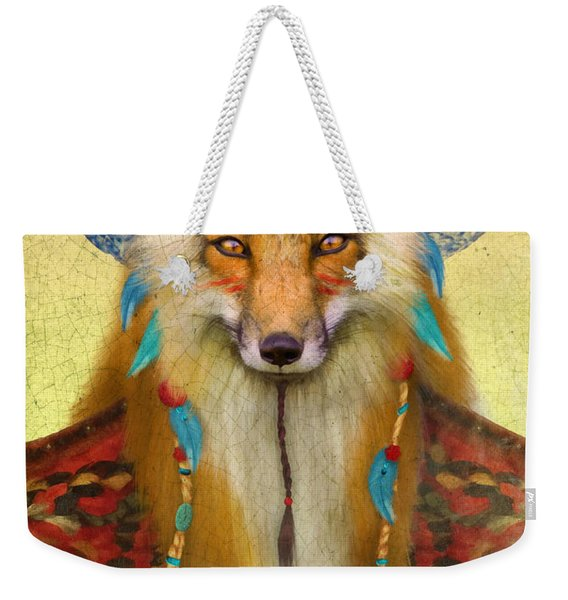 Wise Fox Weekender Tote Bag