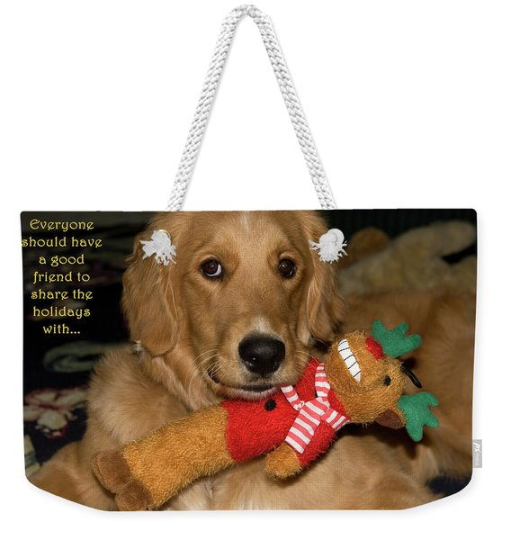 Weekender Tote Bag featuring the photograph Wish For A Christmas Friend by Lorraine Devon Wilke