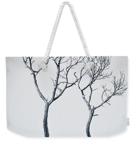 Weekender Tote Bag featuring the photograph Wishbone Tree by Carolyn Marshall