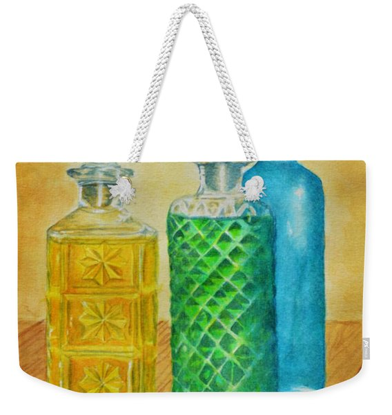 Whiskey Bottles Weekender Tote Bag