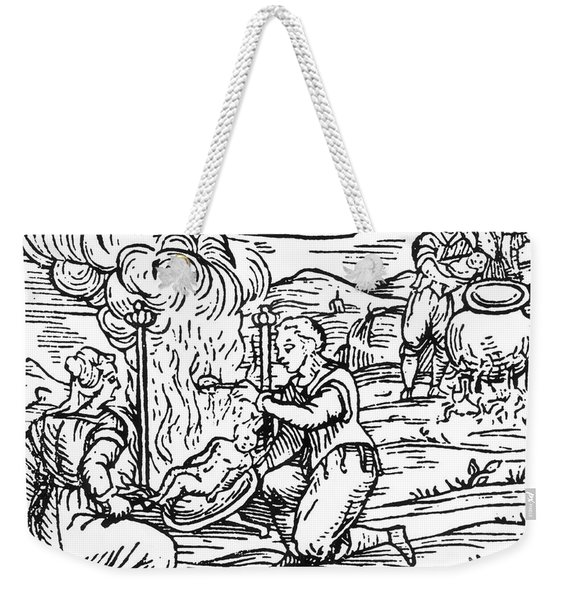 Witches Roasting And Boiling Infants Weekender Tote Bag