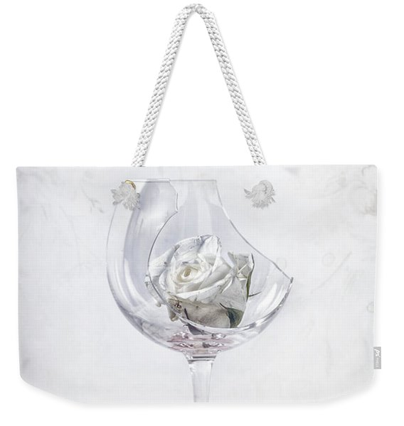Withered White Rose Weekender Tote Bag