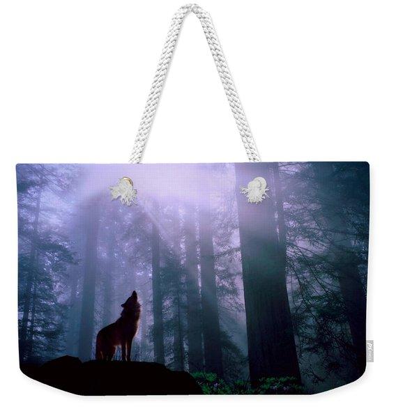 Wolf In The Woods Weekender Tote Bag