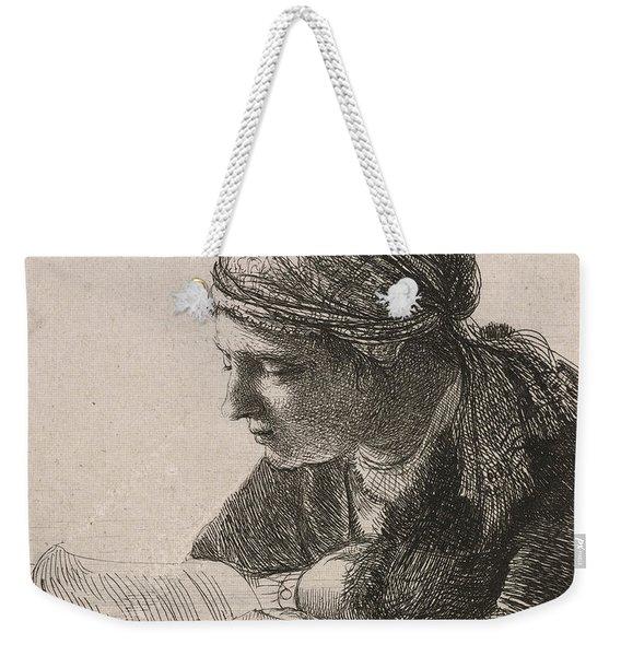 Woman Reading Weekender Tote Bag