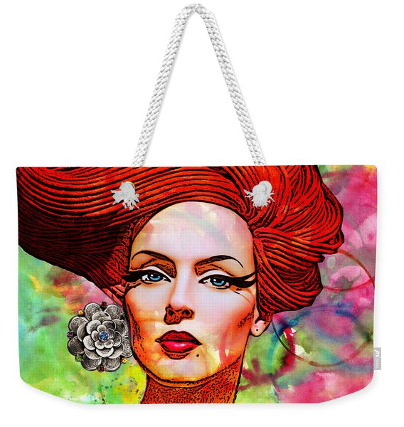 Woman With Earring Weekender Tote Bag