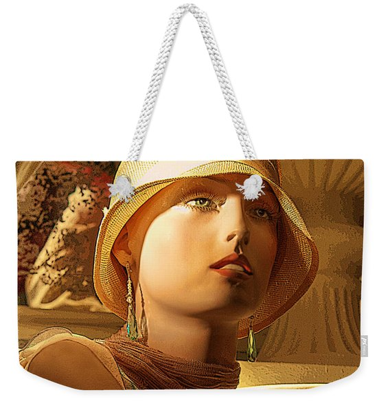 Woman With Hat Weekender Tote Bag