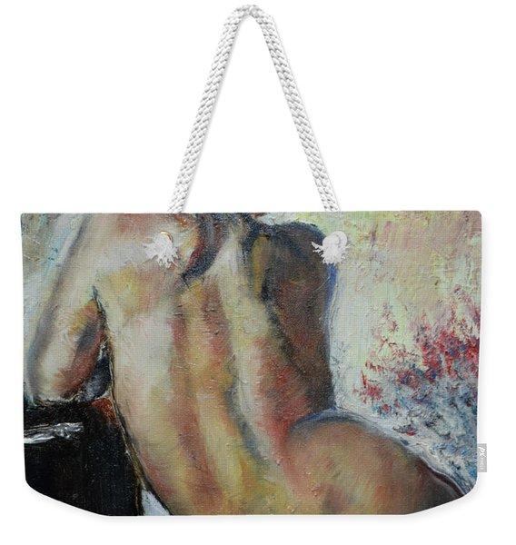 Woman's Back  Weekender Tote Bag