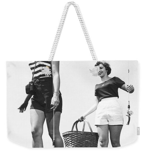 Women Going Fishing Weekender Tote Bag