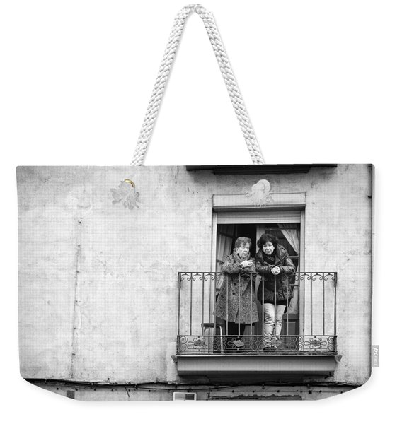 Women In Balcony Weekender Tote Bag