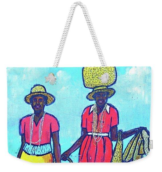 Women On Beach At Grenada Weekender Tote Bag