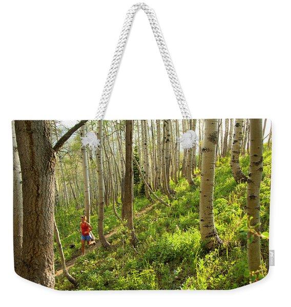 Women Trail Running Weekender Tote Bag