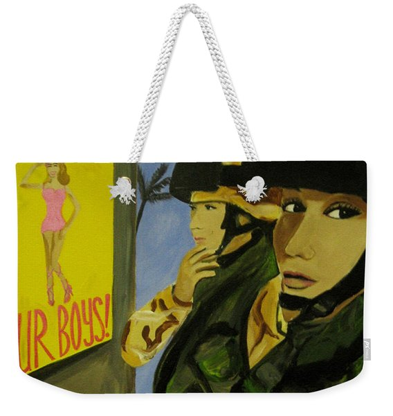 Women Warriors And The Pinup Weekender Tote Bag