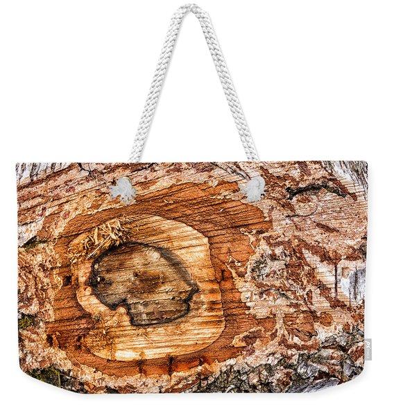 Wood Detail Weekender Tote Bag