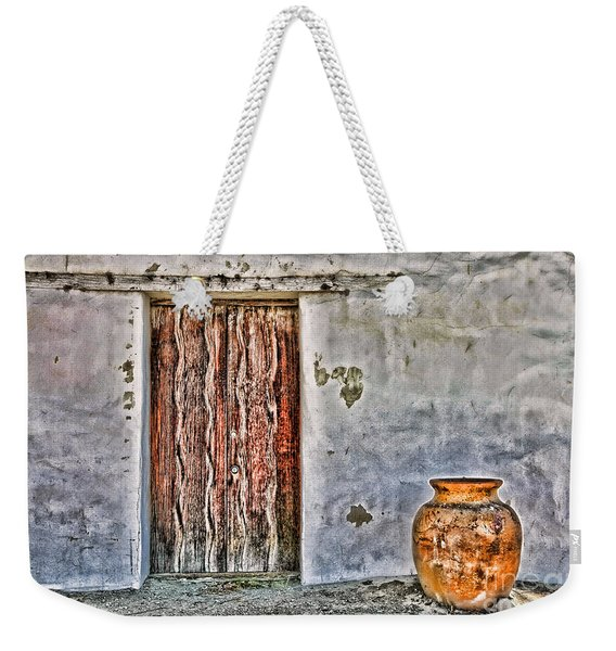 Wood Door And Clay Pot By Diana Sainz Weekender Tote Bag