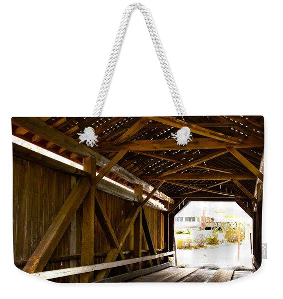 Wood Fame Bridge Weekender Tote Bag