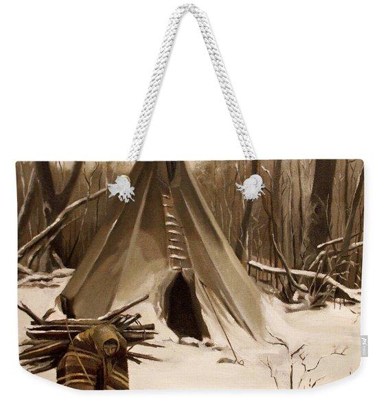 Wood Gatherer Weekender Tote Bag