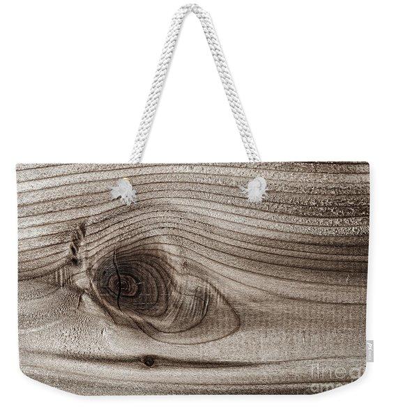 Wood Knot Abstract Weekender Tote Bag