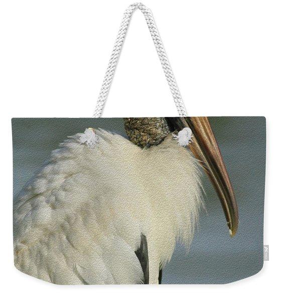 Wood Stork In Oil Weekender Tote Bag