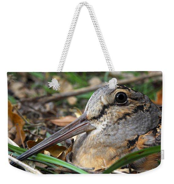 Woodcock Beak Close Up Weekender Tote Bag