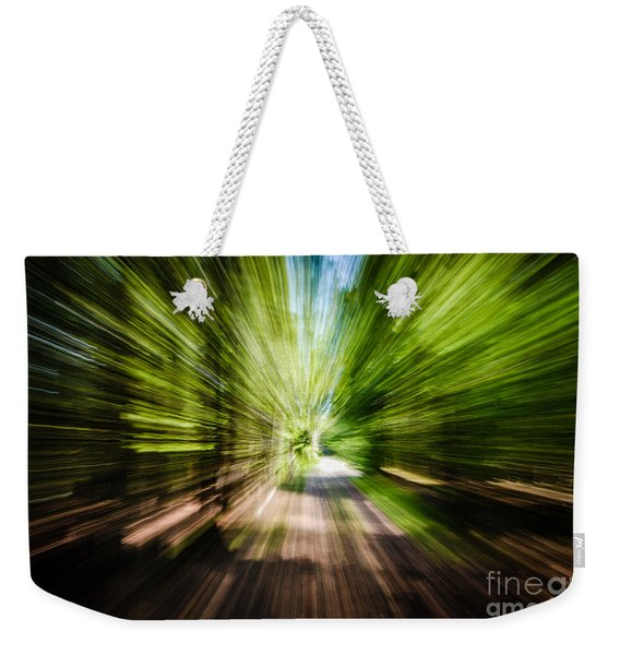 Wooded Spin Weekender Tote Bag