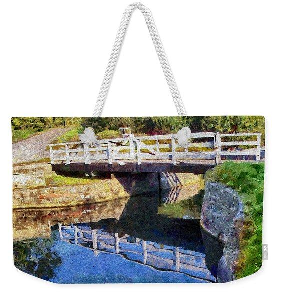 Wooden Bridge Weekender Tote Bag