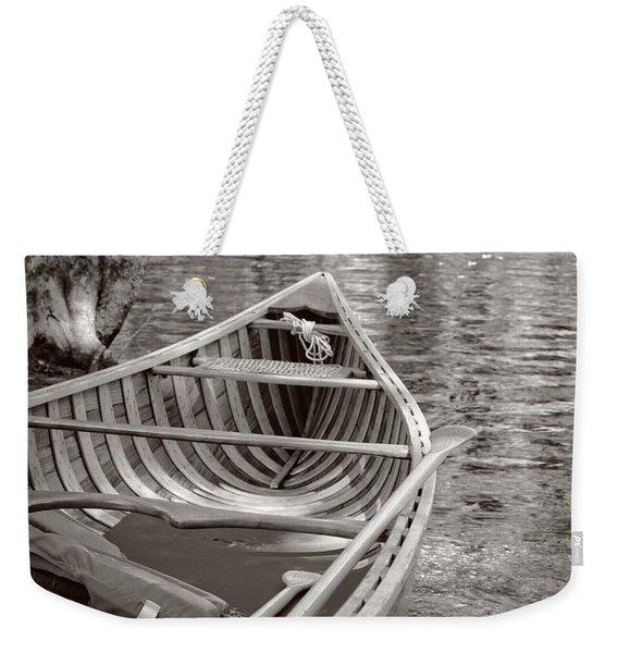 Wooden Canoe Weekender Tote Bag