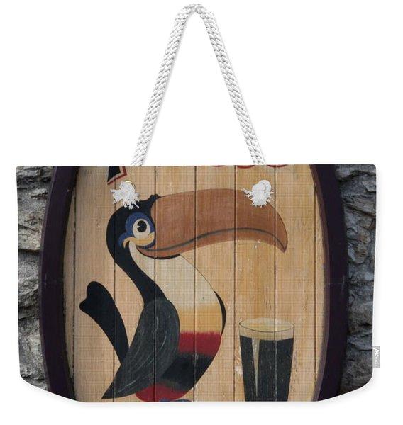 Wooden Guinness Sign Weekender Tote Bag