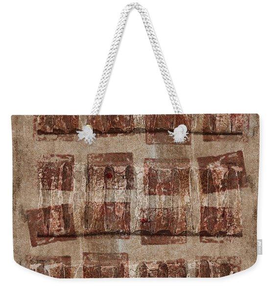 Wooden Paper Weekender Tote Bag