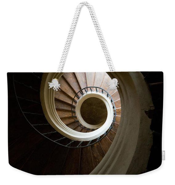 Weekender Tote Bag featuring the photograph Wooden Spiral by Jaroslaw Blaminsky