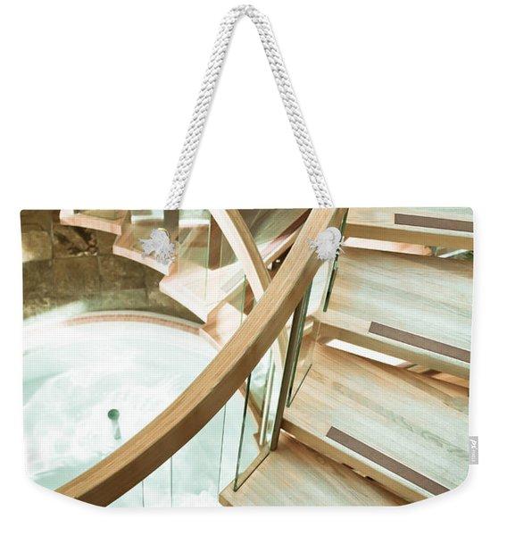 Wooden Staircase Weekender Tote Bag