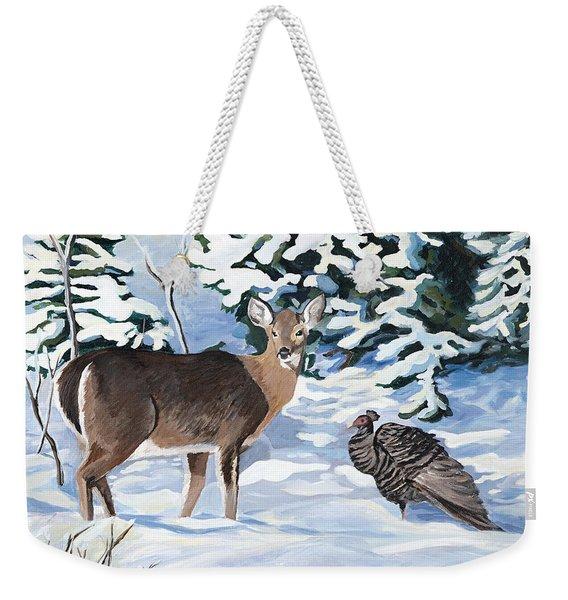 Woodland Creatures Meet Weekender Tote Bag