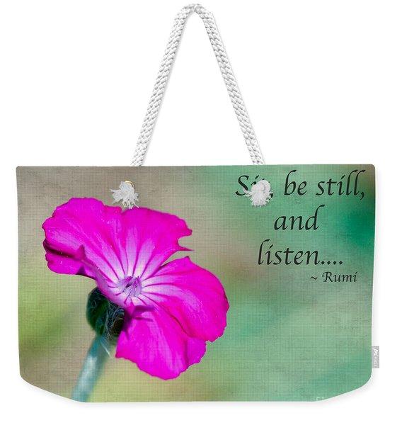 Words From Rumi Weekender Tote Bag