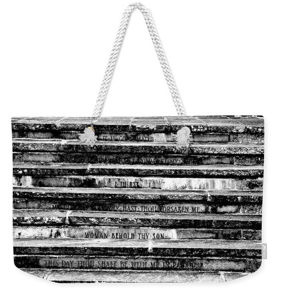 Words Of The Cross Weekender Tote Bag