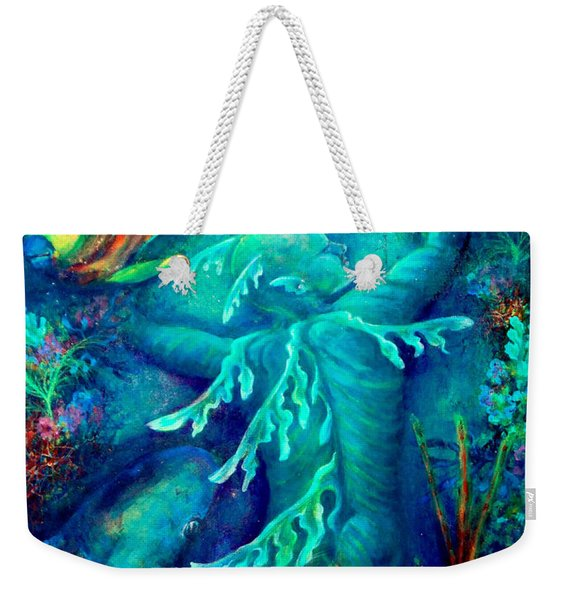 Weekender Tote Bag featuring the painting World by Ashley Kujan
