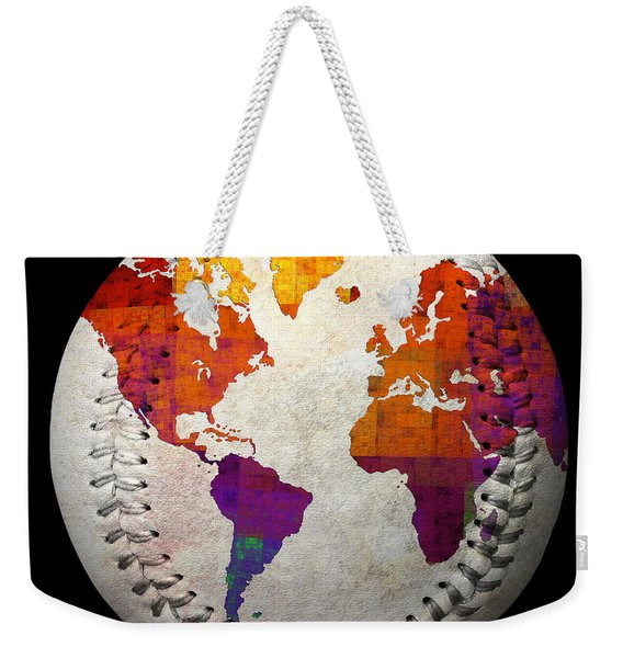 World Map - Rainbow Bliss Baseball Square Weekender Tote Bag