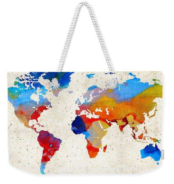 World Map 18 - Colorful Art By Sharon Cummings Weekender Tote Bag