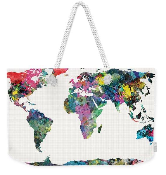 World Map Weekender Tote Bag