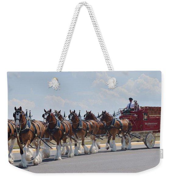 World Renown Clydesdales 2 Weekender Tote Bag