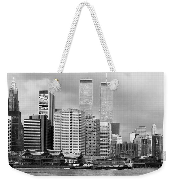 New York City - World Trade Center - Vintage Weekender Tote Bag