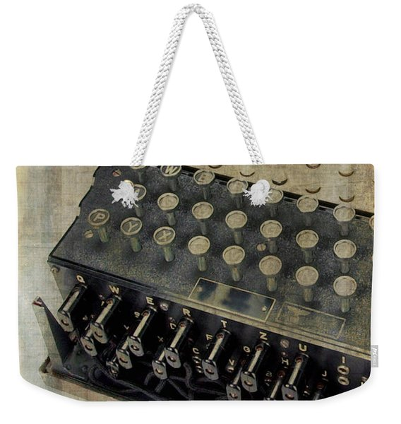 World War II Enigma Secret Code Machine Weekender Tote Bag