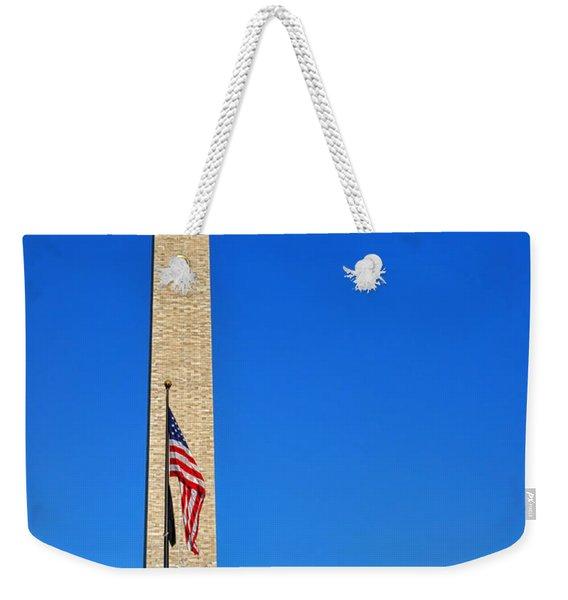 World War II Memorial And Washington Monument Weekender Tote Bag